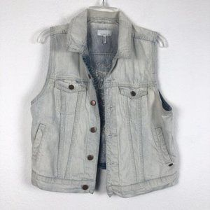 O'Neill Faded Embroidered Jean Vest - Medium/Large